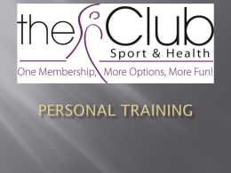 Personal Training - The Club at Monroeville