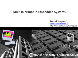 Fault Tolerance in Embedded Systems