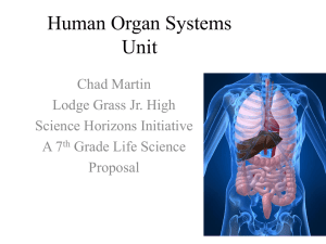 Human Organ Systems Unit - Science Horizons Initiative