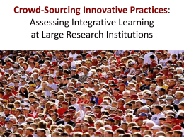 CS 42: Crowdsourcing Innovative Practices for Assessing Integrative