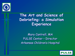 The Art and Science of Debriefing | Mary Cantrell
