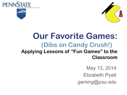 Our Favorite Games - Educational Gaming Commons