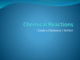 Chemical Reactions - Wikispaces - OISE-IS-Chemistry-2011-2012