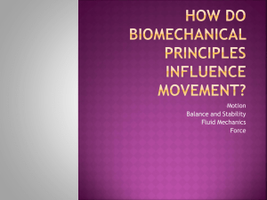 How do Biomechanical Principles Influence Movement?