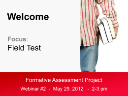 Formative Assessment Project