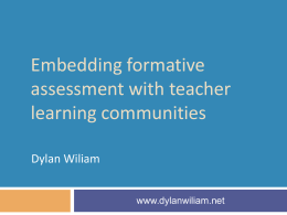 Raising standards through classroom assessment