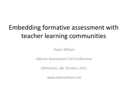 Closing keynote at Alberta Assessment Consortium