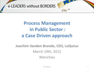 Process Management in Public Sector: a Case Driven approach