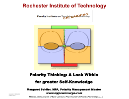 Polarity Thinking - Rochester Institute of Technology
