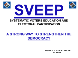 sveep systematic voters education and electoral