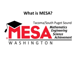 What is MESA? - Pacific Lutheran University