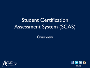 SCAS Intro-2014 - National Academy Foundation