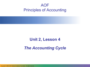 AOF Principles of Accounting