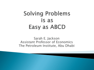 Problem Solving is as Easy as ABCD