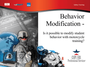 Is it possible to modify student behavior with motorcycle training