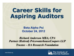 Audit Skills - Dick Anderson`s Deck for the Presentation