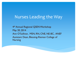 Nurses Leading the Way - Blessing
