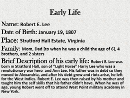 Biography Robert E. Lee Book Report