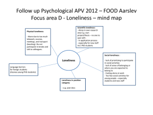 Loneliness * mind map