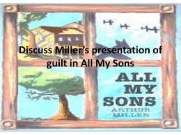 Discuss Miller*s presentation of guilt and betrayal in All My Sons