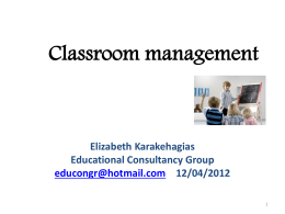 Classroom management - Community Languages Australia
