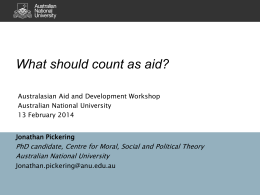 What should count as aid? - Devpolicy Blog from the Development