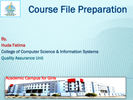 Course File Preparation