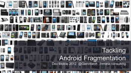 Android - dev:mobile 2014