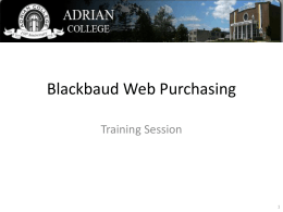 Blackbaud Web Purchasing