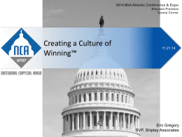 Culture of Winning - APMP-NCA