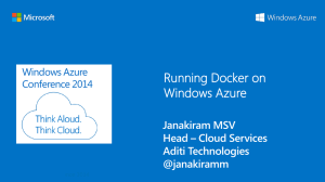 Running Docker on Windows Azure