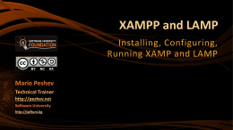 1. XAMPP-and-LAMP-Introduction