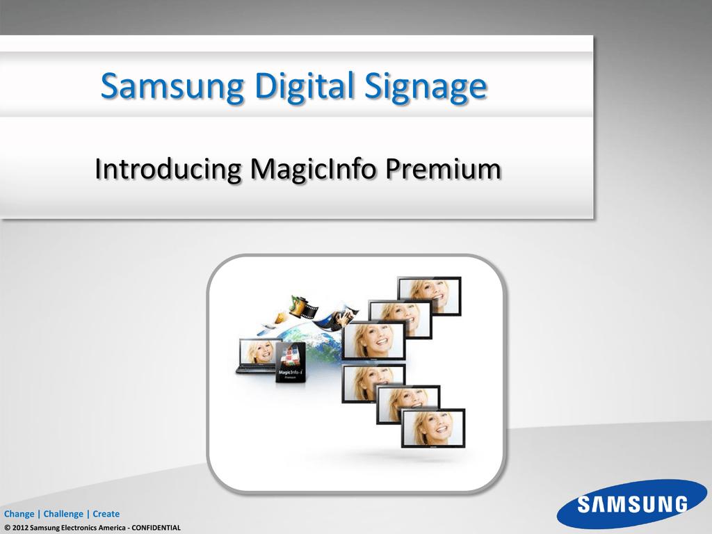 Introducing MagicInfo Premium