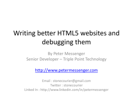 Writing better HTML5 websites and debugging