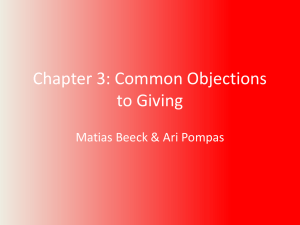Chapter 3: Common Objections to Giving