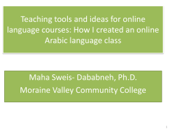 Teaching tools and ideas for online language courses: How