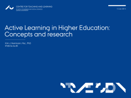 Active Learning in HE. Concepts and research
