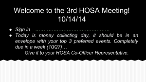 Hosa 2014.15 Meeting 3