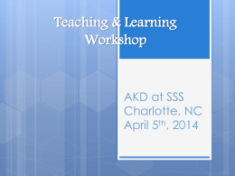 ASA Teaching & Learning Preconference Workshop