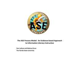 The ASE Process Model: An Evidence