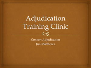 Adjudication Training Clinic 2015