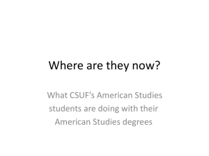 Where are they now? - Department of American Studies