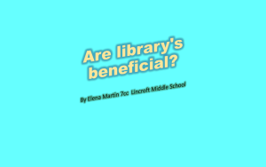 Are library`s beneficial?