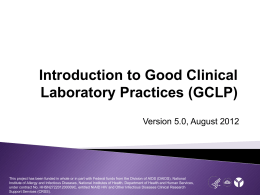 GCLP Standards - DAIDS Learning Portal