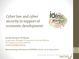 Cyber law and cyber security in support of economic