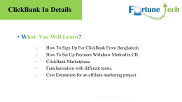 ClickBank In Details - Official Blog of Fortune Tech