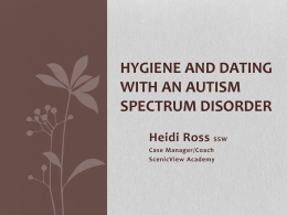 Hygiene and Dating with an Autism Spectrum Disorder