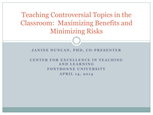 Teaching Controversial Topics in the Classroom 2