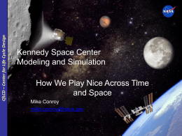 Mr. Mike Conroy, Modeling and Simulation