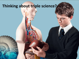Triple Science Options - Framingham Earl High School